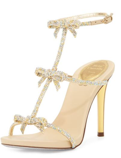 Rene Caovilla strappy bow sandals