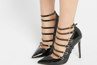 ASOS 'Personalise' cage pointed high heels