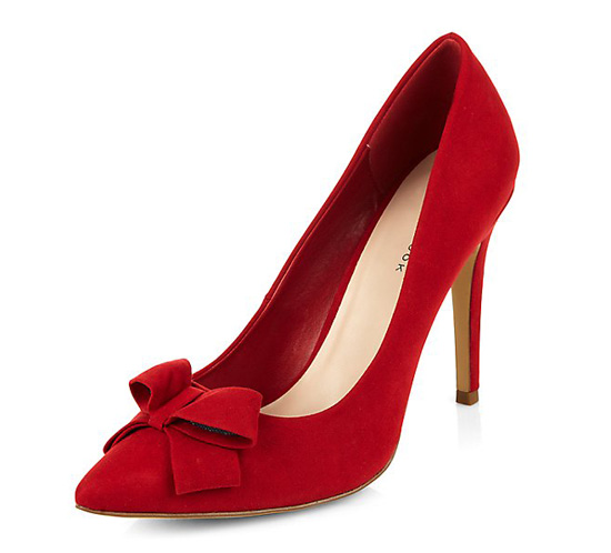 New Look red high heels