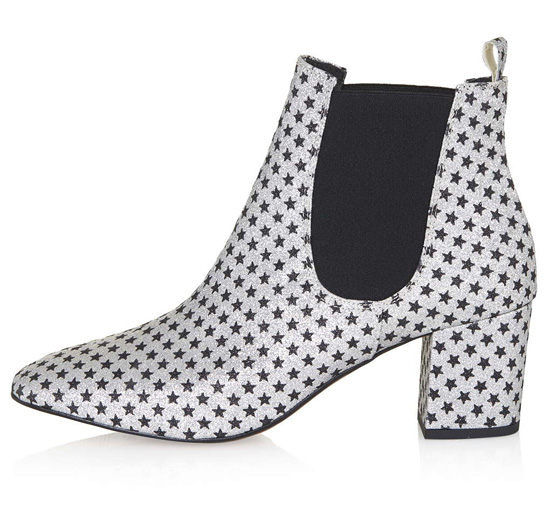 star print ankle boots