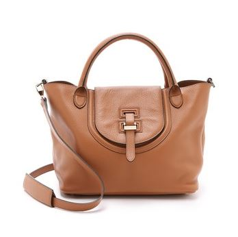 Meli Melo tan satchel