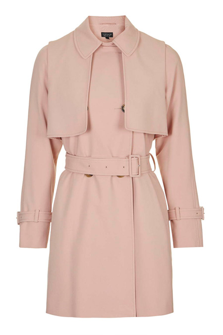 pink tailored trenchcoat