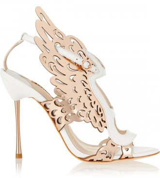 Sophia Webster Parisa laser-cut metallic leather sandals