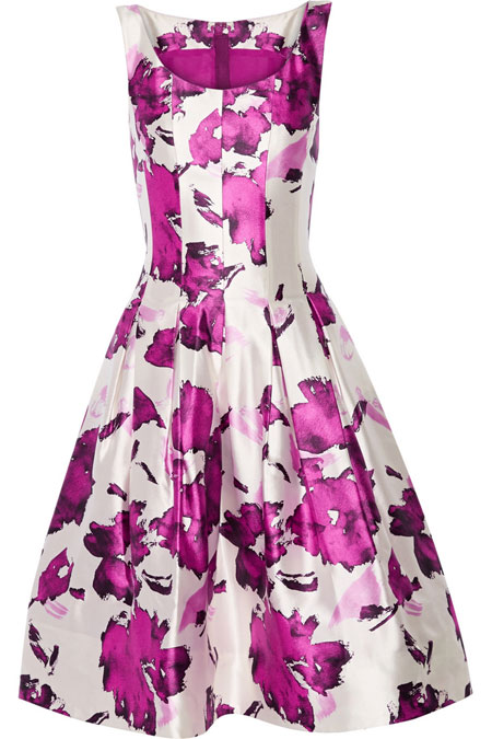 Oscar de la Renta floral silk prom dress