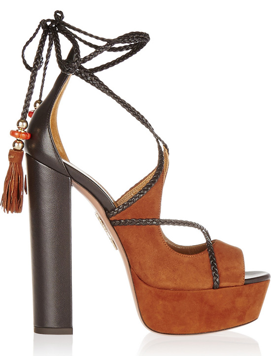 Aquazzura suede platforms