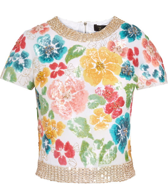 floral top by Jenny Packham