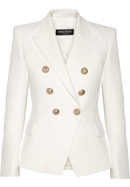 white double-breasted Blamain blazer