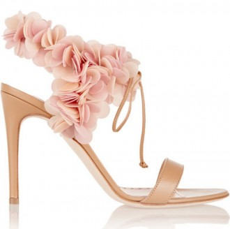 Rupert Sanderson PVC-trimmed leather sandals