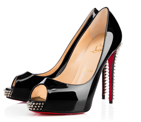 Christian Louboutin New Very Prive Spikes Patent