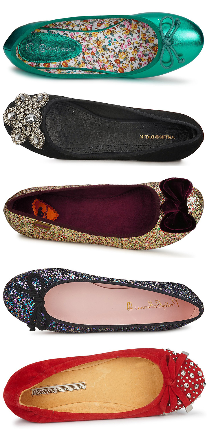 94ffe34fb8a1 Five Pairs of Festive Flats for the Party Season