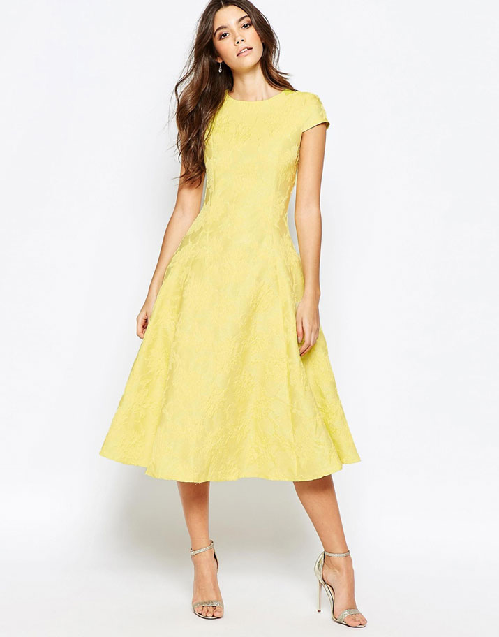 True Decadence yellow prom dress