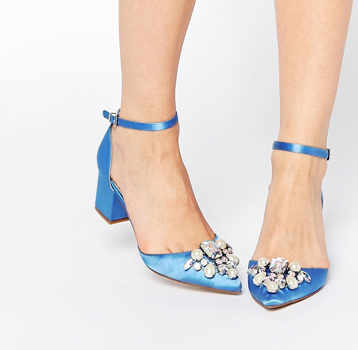 ASOS Saprkle low heeled shoes