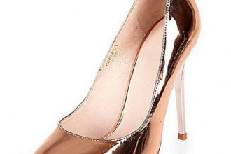 River Island rose gold metallic heels