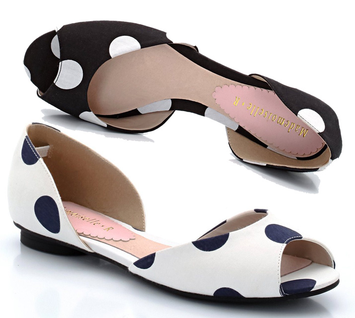 polka dot peep toe sandals