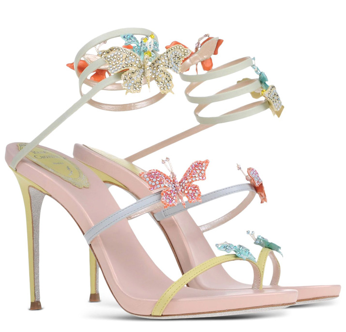 Rene Caovilla butterfly-embellished sandals