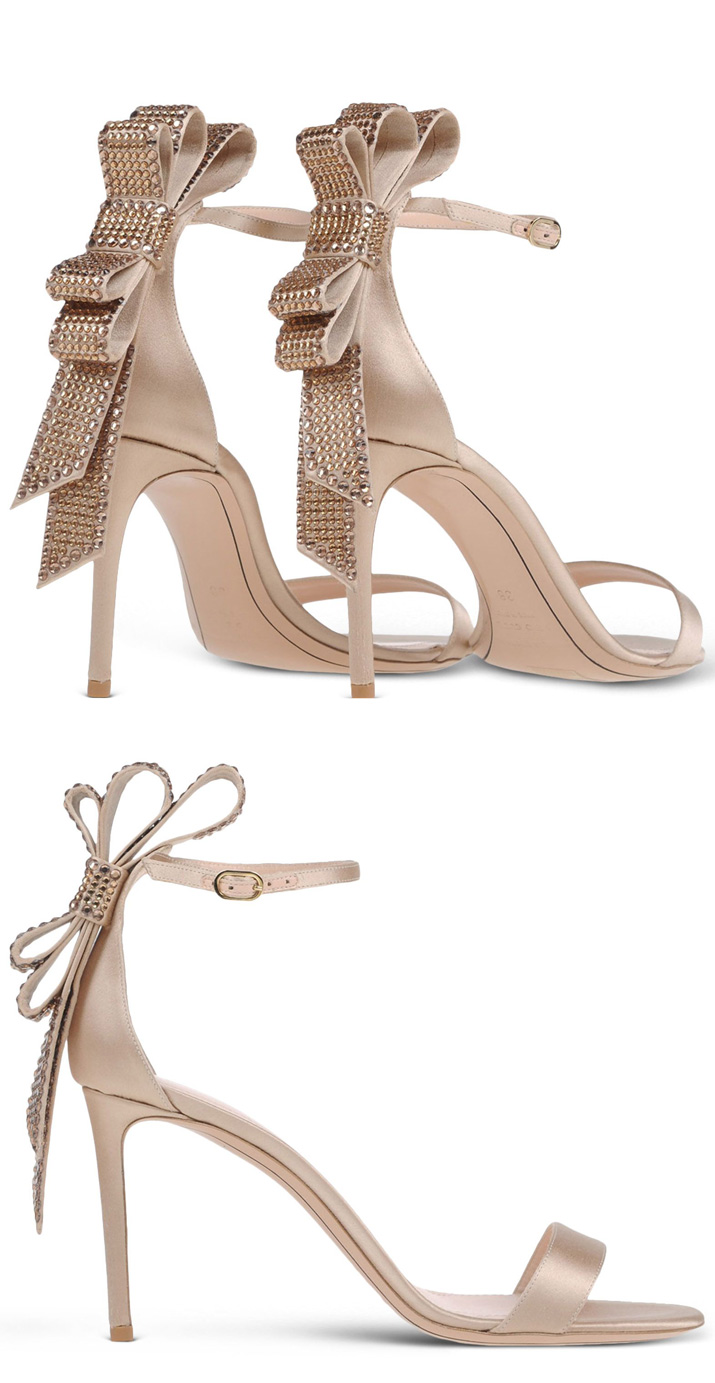 Bow-back sandals by Nicholas Kirkwood