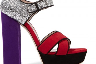 Miu Miu purple and red sandals