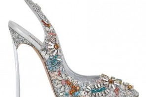 Casadei Swarovski 120mm Daisy pumps