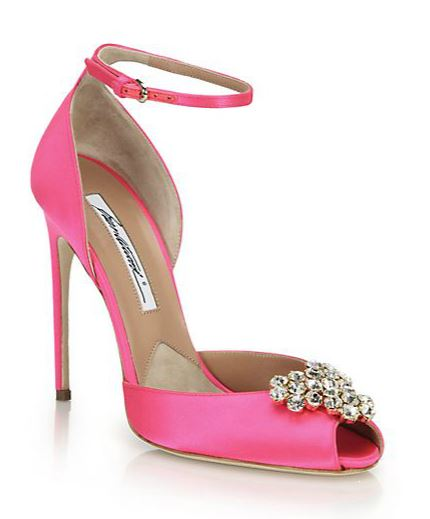 pink high heel shoes by Brian Atwood