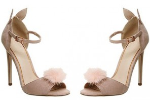 Office Ah Ha Bunny Pom Pom Heels