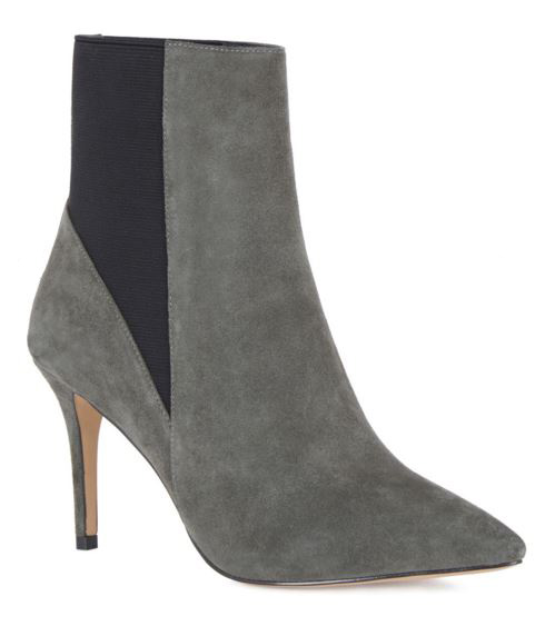SUEDE POINTED HEELED BOOTS