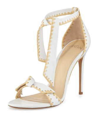 Alexandre Birman Clarita Whipstitch Leather Sandal