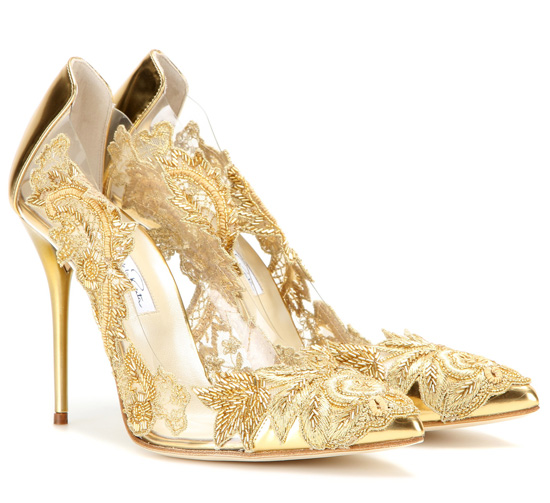 Oscar de la Renta 'Alyssa' embellished transparent pumps