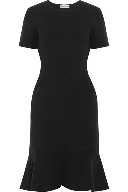 Balenciaga black stretch mini dress
