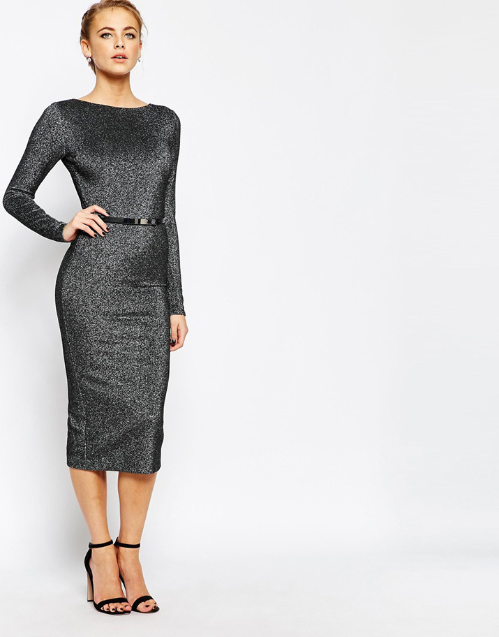Ted Baker long sleeve midi dress