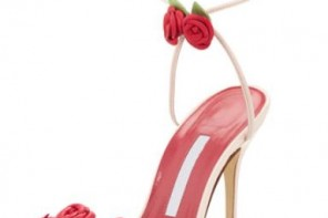 Manolo Blahnik flower sandals