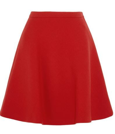 wool crepe mini skirt