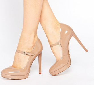 Faith 'Chrissie' nude patent Mary janes