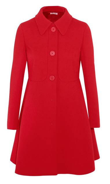 Miu Miu red wool coat