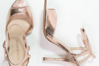rose gold sandals by Little Mistress