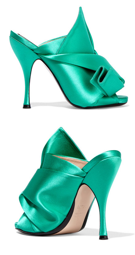 No. 21 Knotted Satin Mules