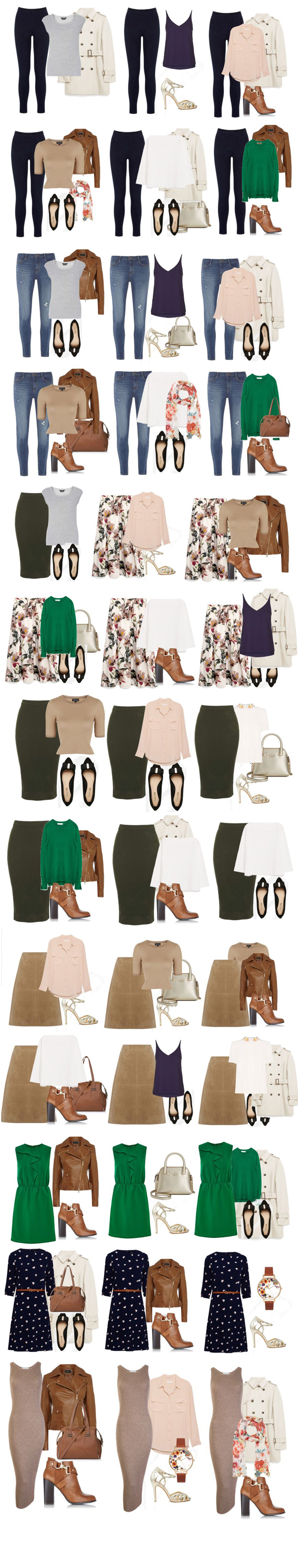 capsule wardrobe outfit combinations