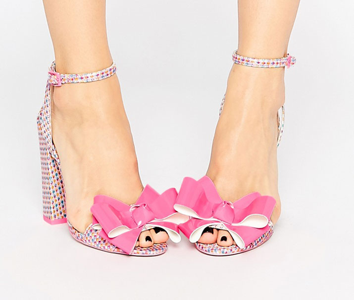 ASOS Harminise bow-front heeled sandals