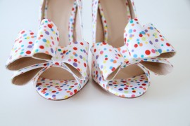polka dot bow shoes