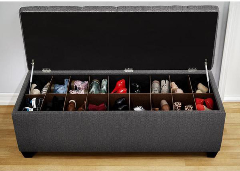 how to store flat shoes