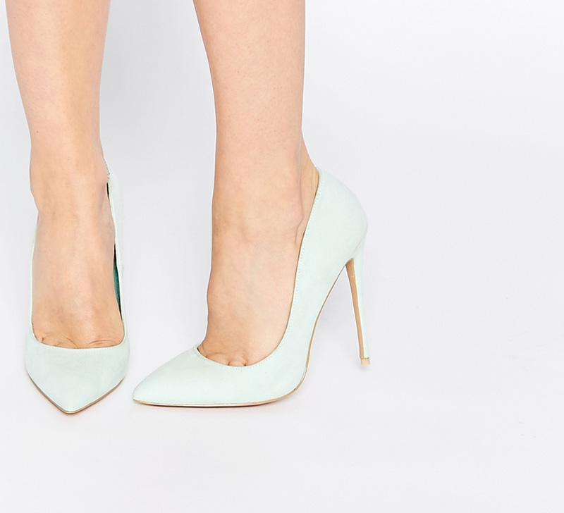 mint green court shoes