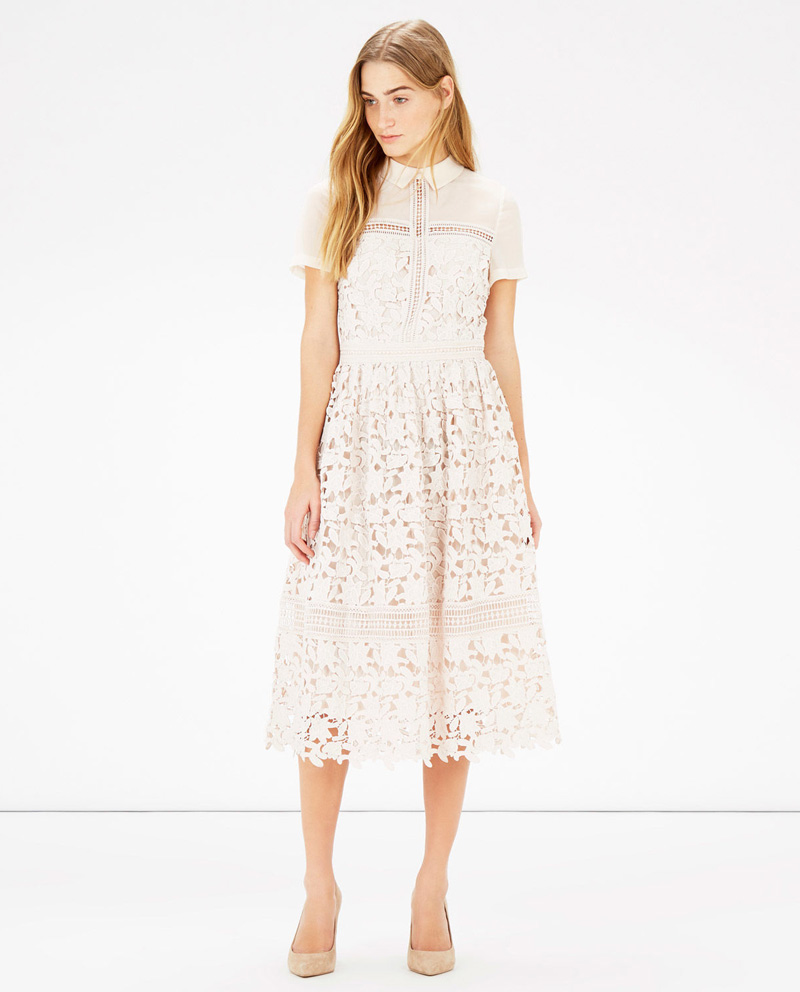 Warehouse lace shirt dress