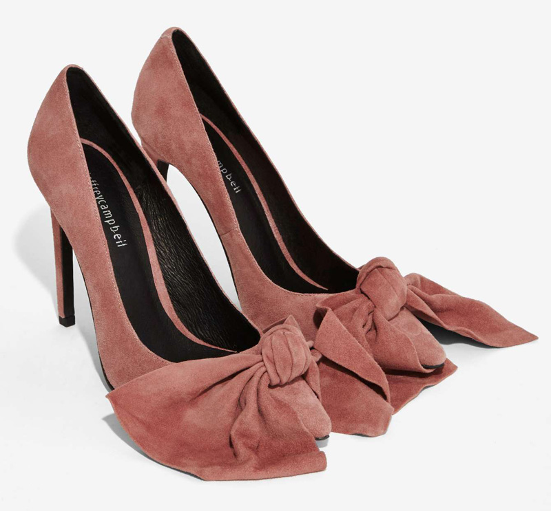 Jeffrey Campbell 'Grandame' Suede Bow Pumps