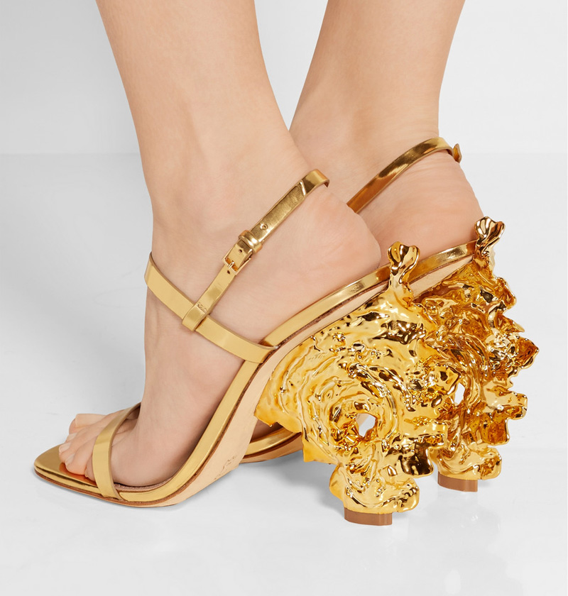 Tory Burch Firenza metallic leather sandals