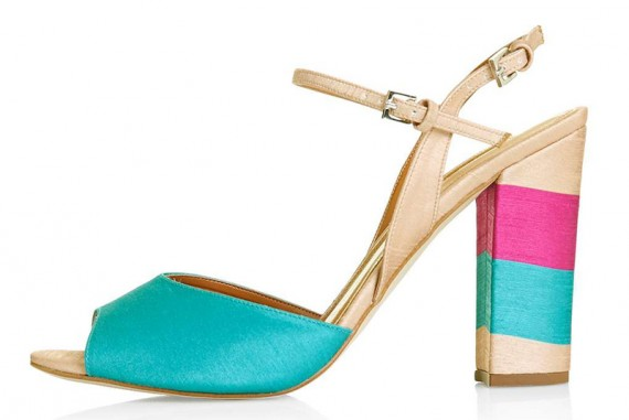 Topshop RAM striped sandals