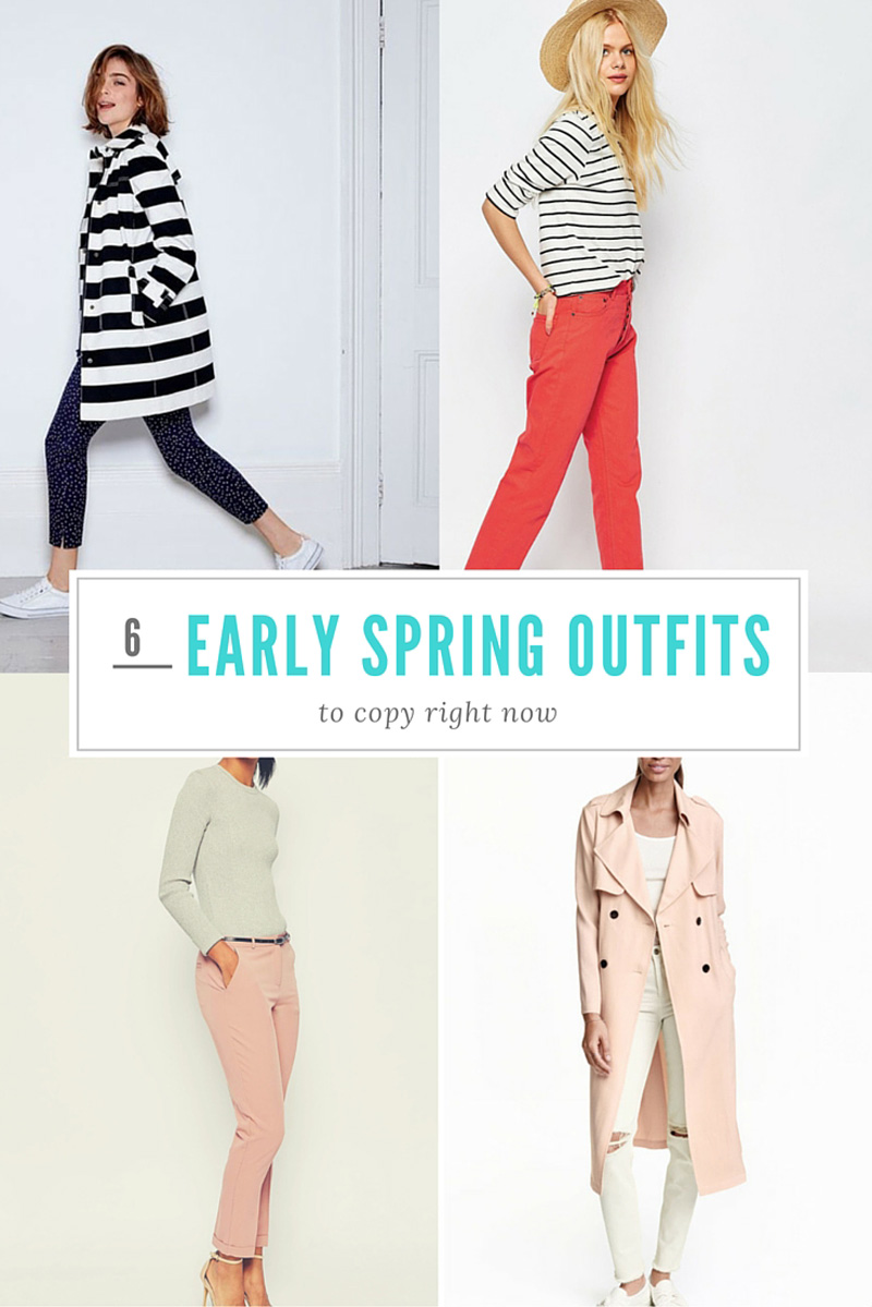 6 early spring outfits to copy right now