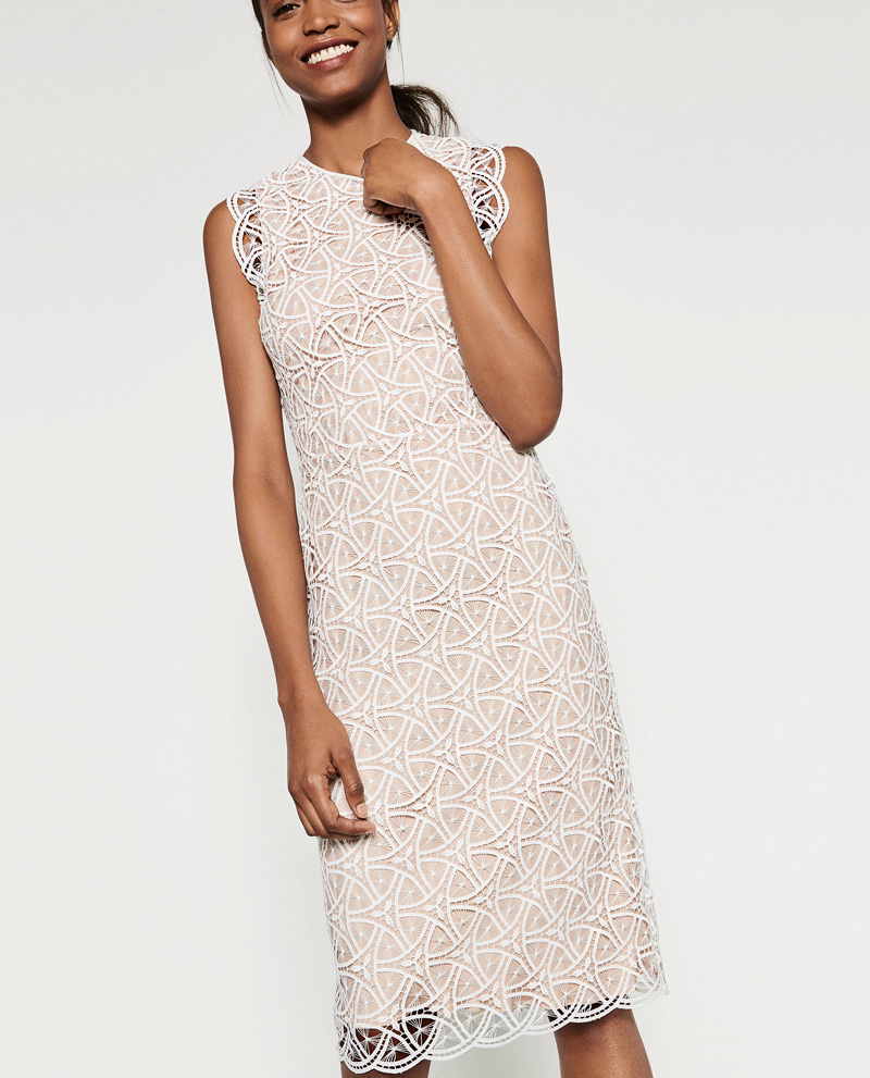 Zara lace midi dress