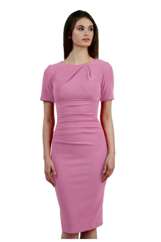 short sleeved pencil dress