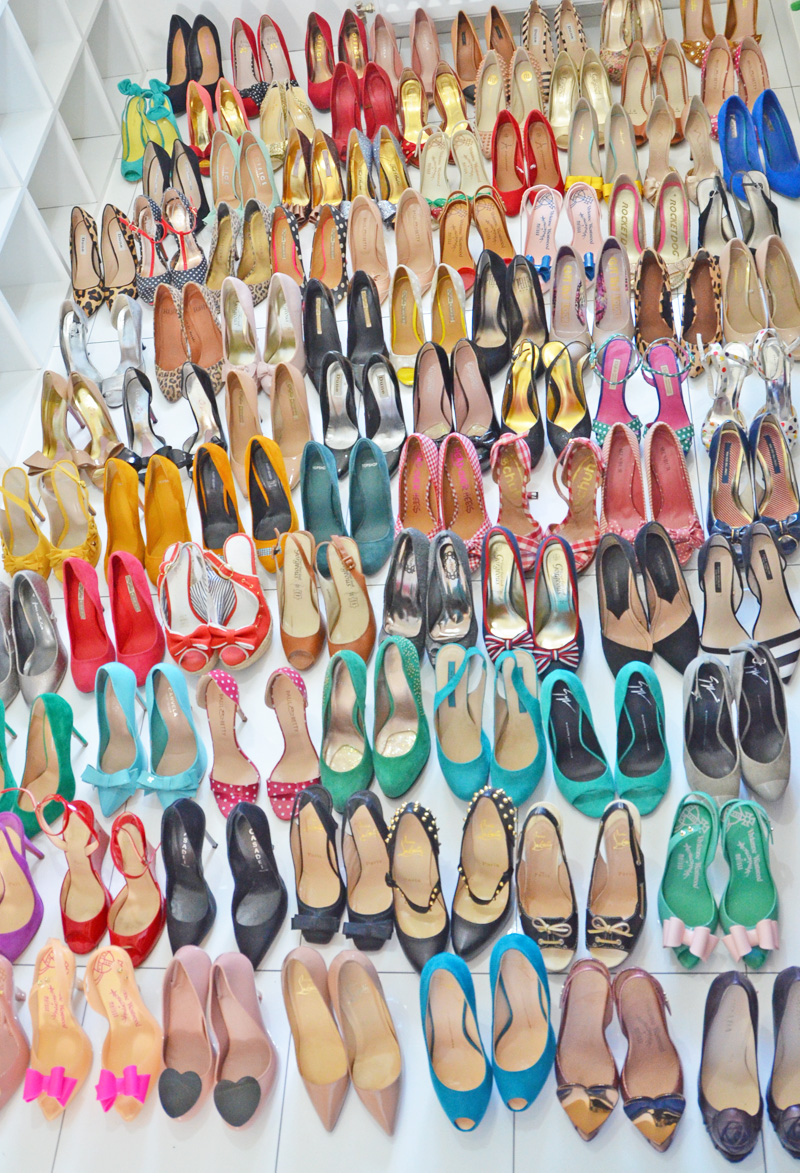 large shoe collection