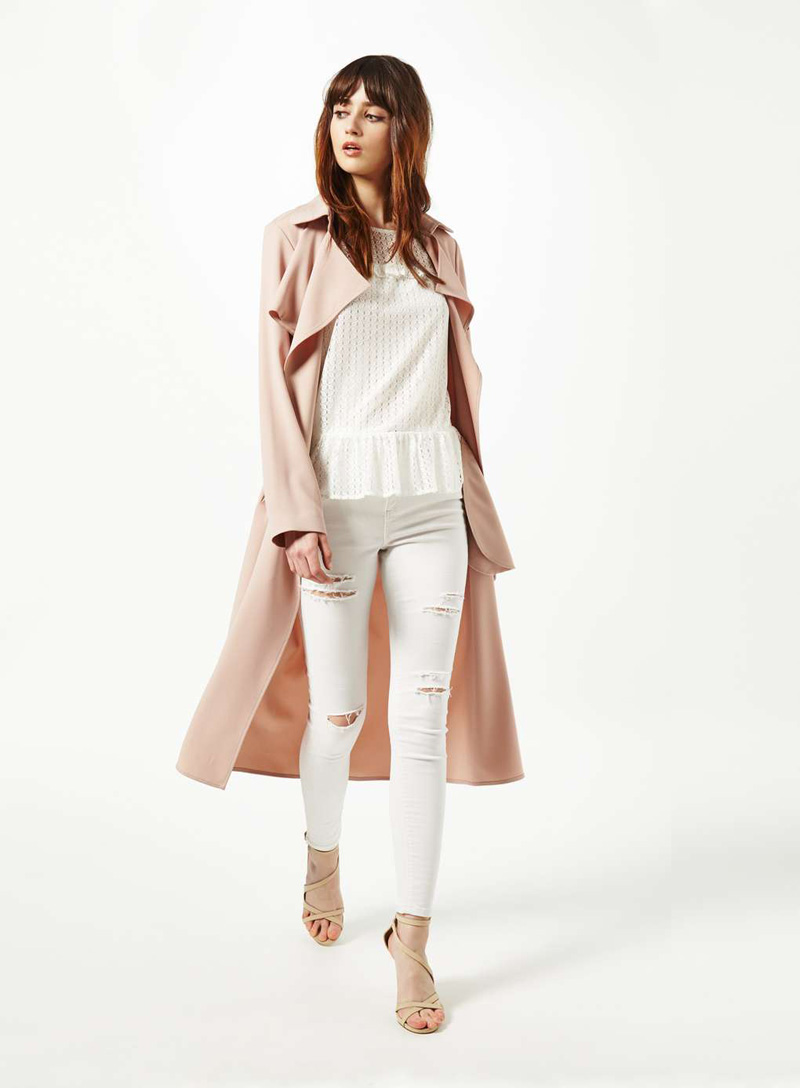 fluid trench coat
