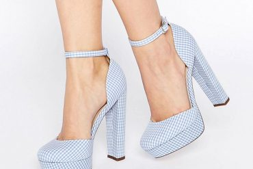blue gingham shoes by ASOS